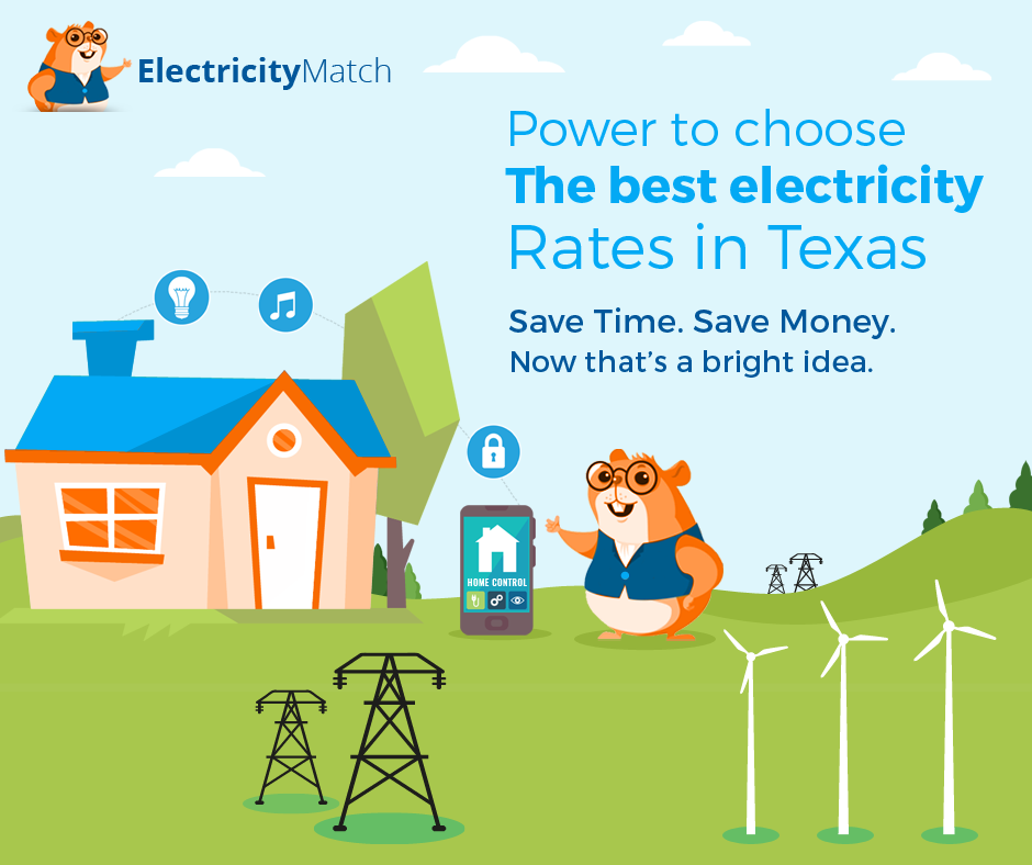 Power to choose the best electricity rates in texas – square
